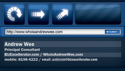 Andrew Wee business card