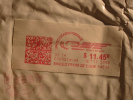 Robert Allen postage label