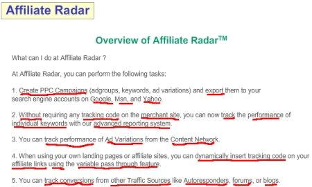 affiliate radar