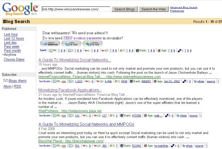 blog search google