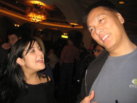 Dina Riccobono with John Chow